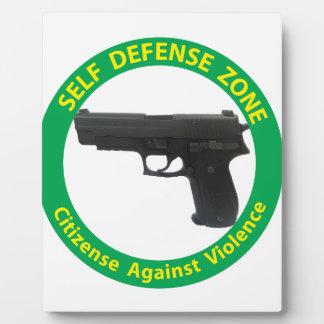 Self Defense Zone-Violence Plaque