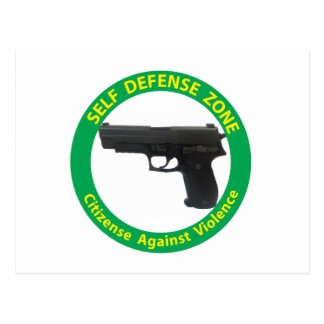 Self Defense Zone-Violence Postcard