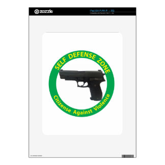 Self Defense Zone-Violence Skin For The iPad