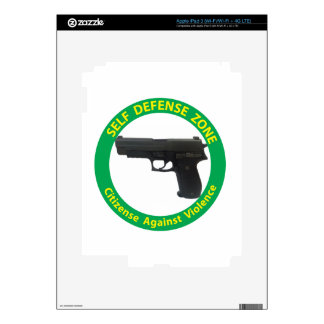 Self Defense Zone-Violence Skins For iPad 3