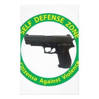 Self Defense Zone-Violence Stationery