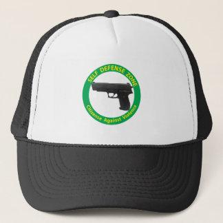 Self Defense Zone-Violence Trucker Hat