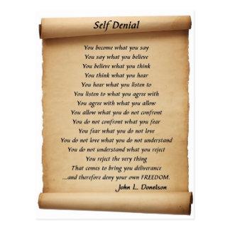 Self Denial Postcard