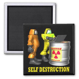 Self Destruction 2 Inch Square Magnet