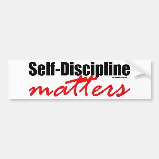 Self-Discipline Matters Car Bumper Sticker