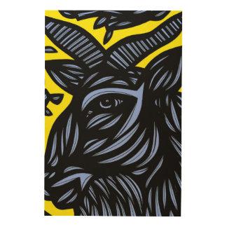 Self-Disciplined Passionate Prepared Energized Wood Print