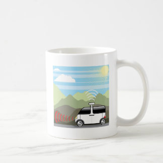 Self-driving car. Driverless car. Coffee Mug