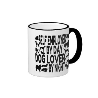 Self Employed Dog Lover Ringer Mug