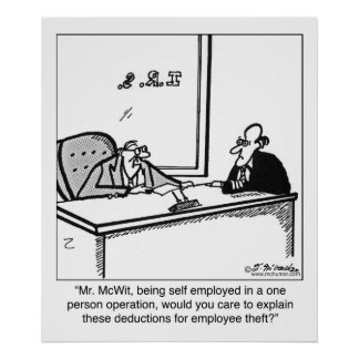 Self Employed & Employee Theft Poster