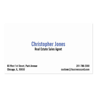 Self-employed Professionals Custom Business Card