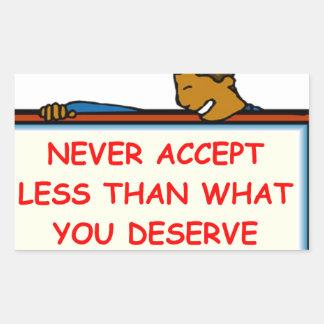 self esteem rectangle sticker