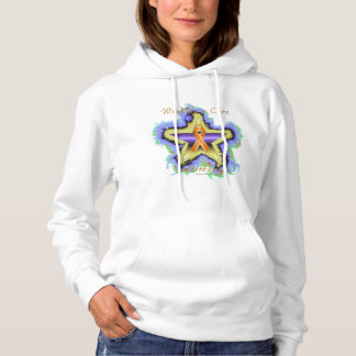 Self Harm Wish Star Ladies Hoodie