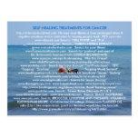 SELF HEALING FROM CANCER & ILLNESS POSTCARD