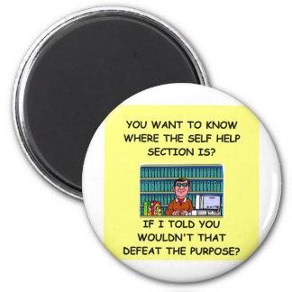self help joke 2 inch round magnet