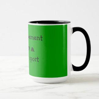 self-improvement is not a spectator sport mug