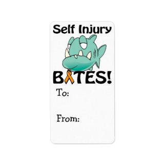 Self Injury BITES Label