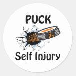 Self Injury Round Stickers