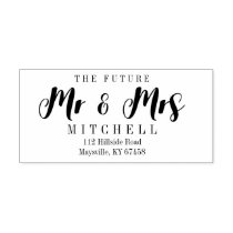 Self-Ink Script Future Mr. and Mrs. Return Address Rubber Stamp