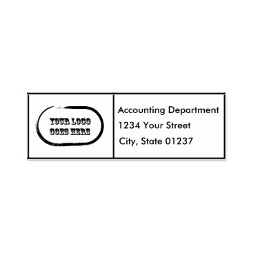 Beach Themed Self Inking Boxed Logo Return 2 Address Lines Self-inking Stamp