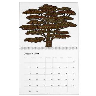 Self-Liberation Word & Emoji-Art Wall Calendar