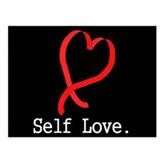 Self Love Black Postcard