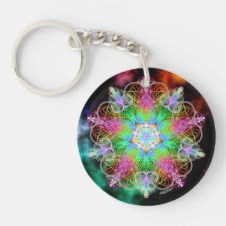 Self Love/ Feeling Free Double-Sided Round Acrylic Keychain