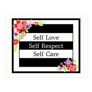 """Self Love"" Gorgeous Floral Postcard. Postcard"