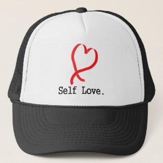 Self Love White Trucker Hat