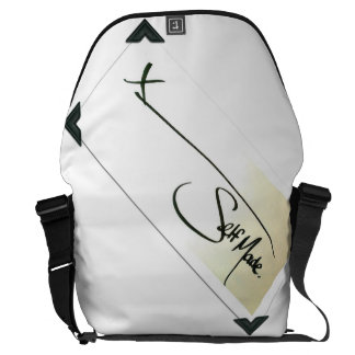 Self Made® Black on Black Trim Messenger Bags