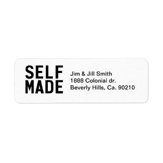 Self Made Independent Return Address Label