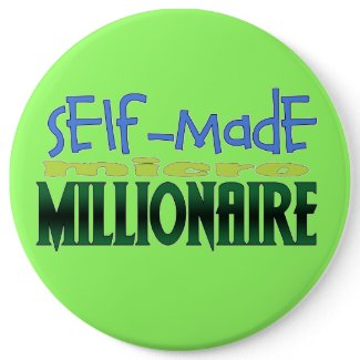 Self-Made (micro) Millionaire Button