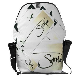 Self Made® Multi-check BLACK on BLACK Trim Courier Bag
