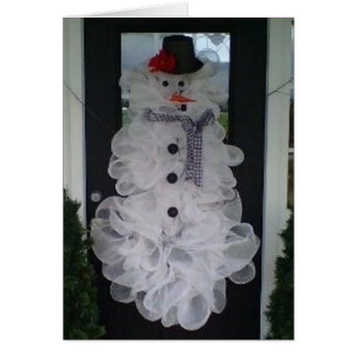 "SELF MADE SNOWMAN SAYS ""MERRY CHRISTMAS"" FROM HOME CARD"