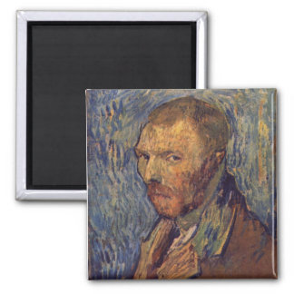 Self-mutilated ear portrait - Van Gogh 2 Inch Square Magnet