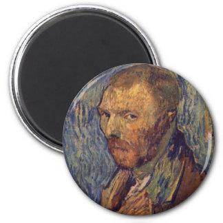 Self-mutilated ear portrait - Van Gogh 2 Inch Round Magnet