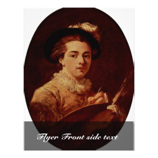"Self-Oval By Fragonard Jean-Honoré (Best Quality) 8.5"" X 11"" Flyer"