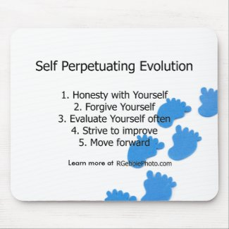 Self Perpetuating Evolution Footprints Mouse Pad