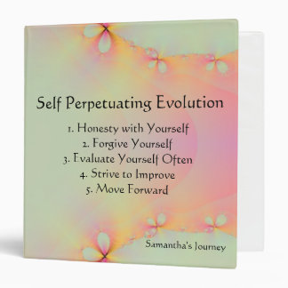 Self Perpetuating Evolution My Journey 3 Ring Binder