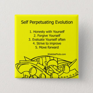 Self Perpetuating Evolution on Yellow Button