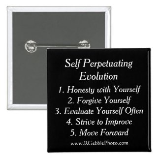 Self Perpetuating Evolution, The Five Keys Pinback Button