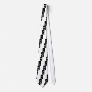 Self-pollution (black) neck tie