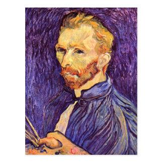 Self-Portait with pallette by Vincent van Gogh Postcard