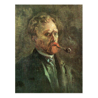 Self-Portait with pipe by Vincent van Gogh Postcard