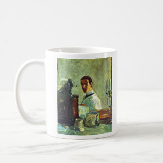 Self Portrai looking in a Mirror -Toulouse-Lautrec Classic White Coffee Mug