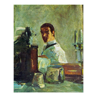 Self Portrai looking in a Mirror -Toulouse-Lautrec Poster