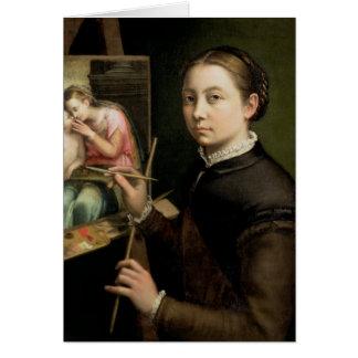 Self portrait, 1556 card