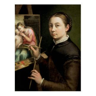 Self portrait, 1556 postcard