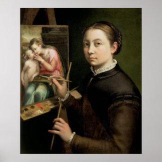 Self portrait, 1556 poster