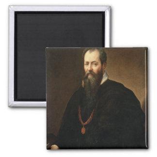 Self Portrait, 1566-68 (oil on canvas) 2 Inch Square Magnet