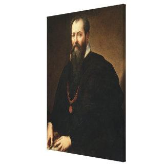 Self Portrait, 1566-68 (oil on canvas) Canvas Print